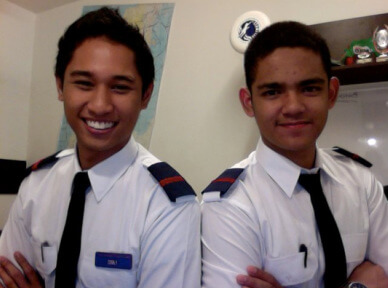 Azman and Instructor Adham Ismail (who is also a licensed commercial pilot)
