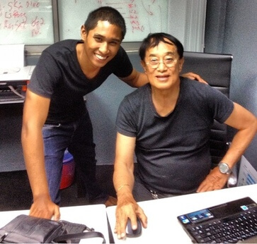 Azman and PADI Course Director (Rtd) Colonel Richard Mei